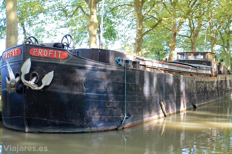 Recorrido en barco por el Canal du Midi, Francia