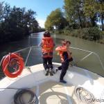 Turismo fluvial en el Canal du Midi, Francia