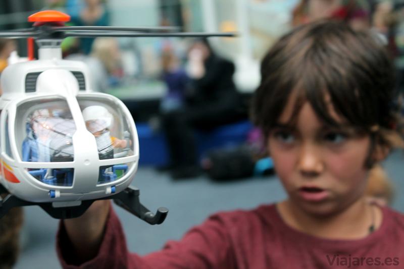 Cajas y cajas para jugar libremente en Playmobil Fun Park de Alemania