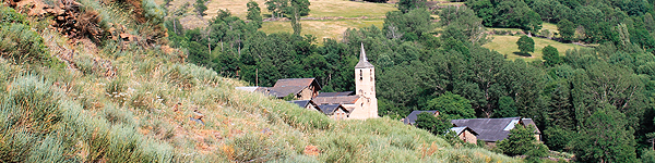 El pueblo de Gavàs en Valls d'Àneu