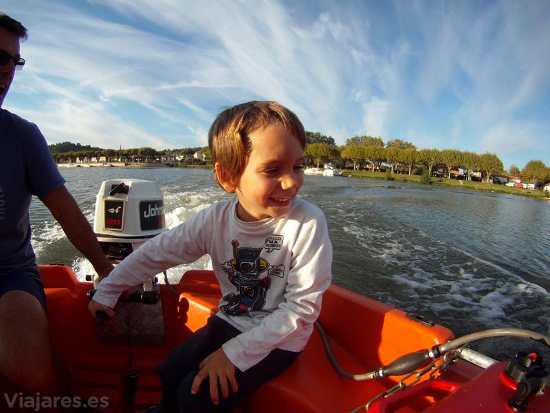 Un barquero excelente para cruzar el Tarn