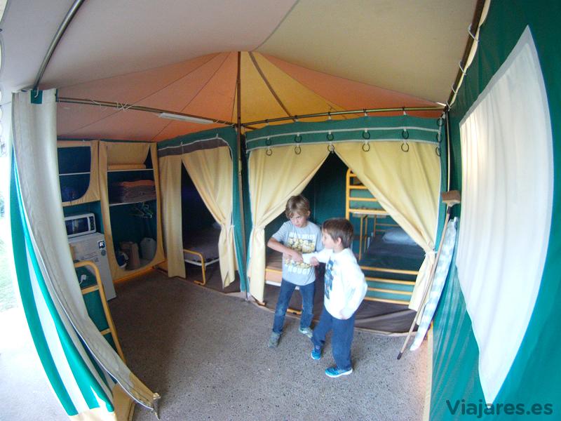 Nuestro alojamiento en el camping de Moissac, Francia