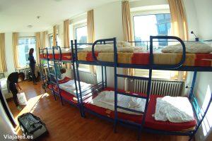 Nuestra habitación en AO Hostels de Núremberg, Alemania