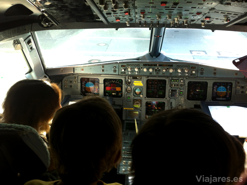 Hablando con los pilotos de Vueling