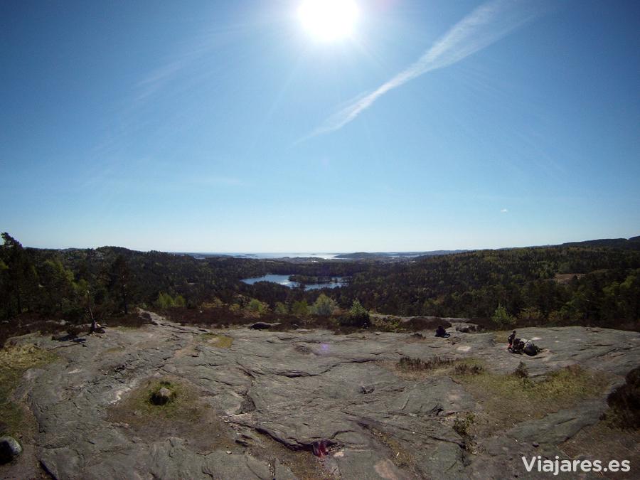 Paisaje en los alrededores de Kristiansand, Noruega