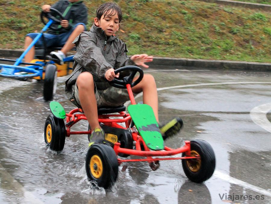 Circuito de Karts con asfalto mojado