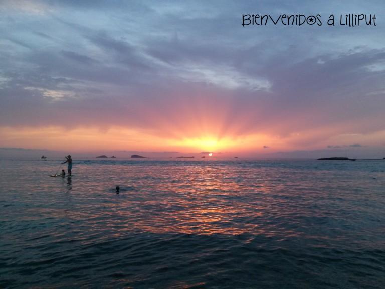 Puesta de sol en Cala Comte de Ibiza - Bienvenidos a Lilliput