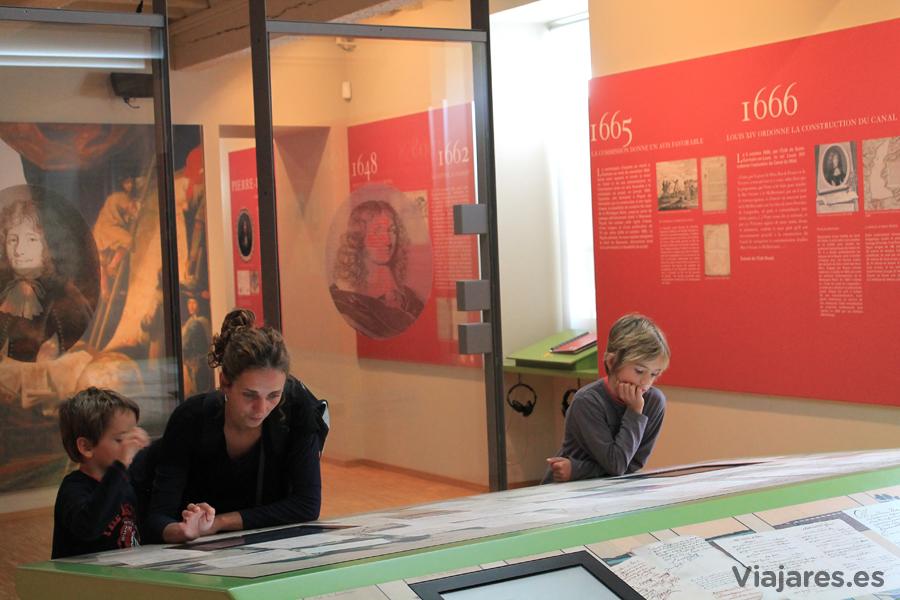 Los recursos multimedia abundan en el Museo del Canal du Midi