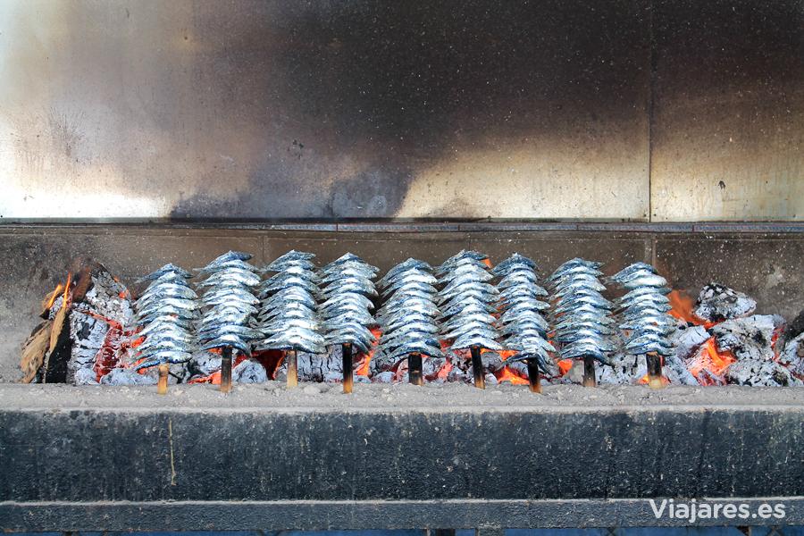 Espetos de sardina en El Tintero de Málaga