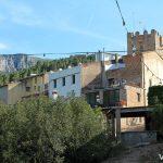 Torre integrada en la iglesia de Sant Jaume, en la localidad de Masriudoms