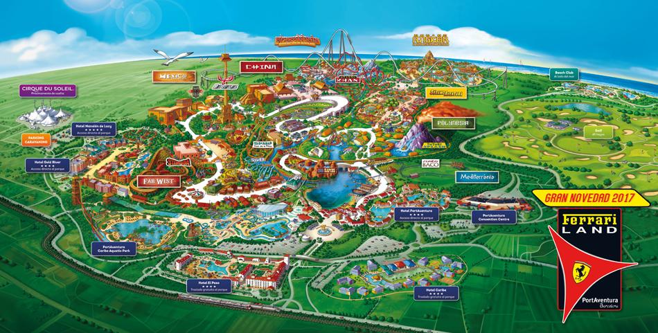 Mapa de PortAventura y nuevos proyectos en la Costa Daurada