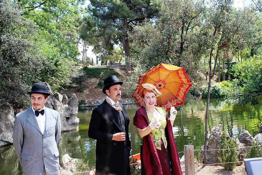 Teatralización modernista en el parque de Torreblanca