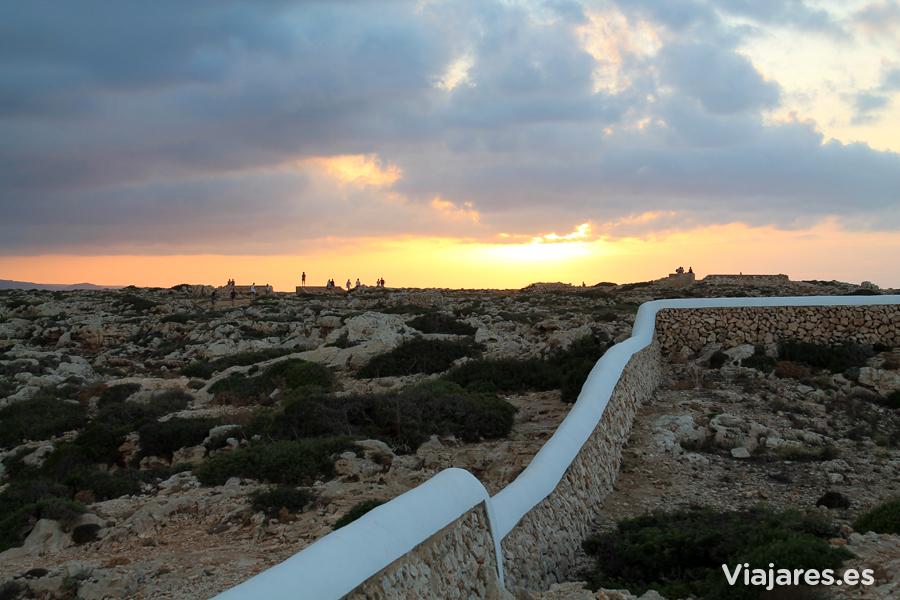 Esperando el ocaso en Cap Cavalleria, Menorca