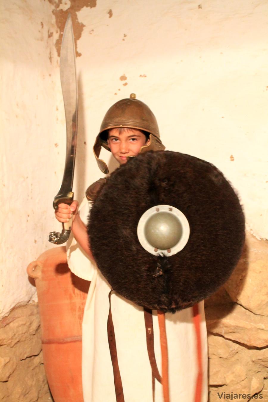 Ataviado igual que un guerrero íbero