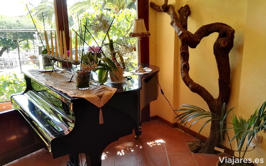 Detalle de uno de los salones del Hotel Antiga
