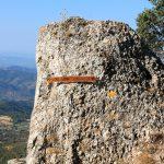 Indicaciones muy cerca ya de la Roca Corbatera