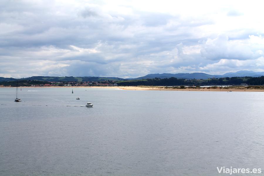 Vistas sobre la Bahía de Santander desde el restaurante