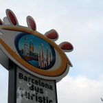 Distintivo de las paradas de Barcelona Bus Turístic