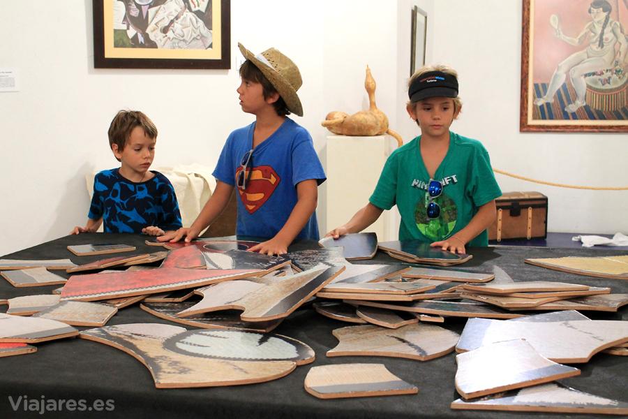 Resolviendo un puzzle con la obra de Joan Miró
