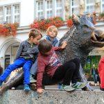 Los peques disfrutando por el centro de Múnich