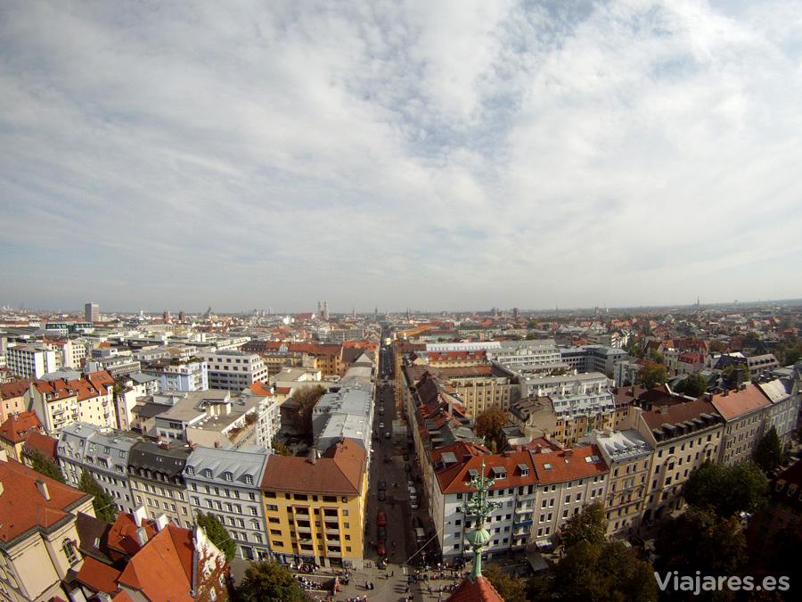Múnich desde la iglesia de Sankt Paul