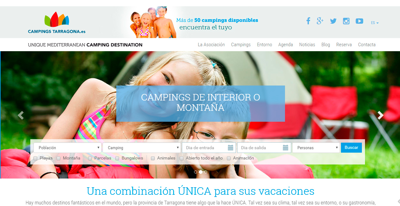 Asociación de Campings de Tarragona, Costa Daurada y Terres de l'Ebre