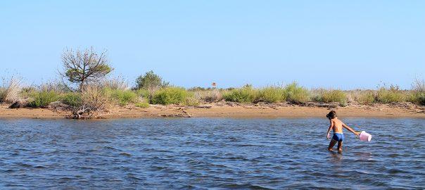 Los peques lo pasan fenomenal en el Delta del Ebro