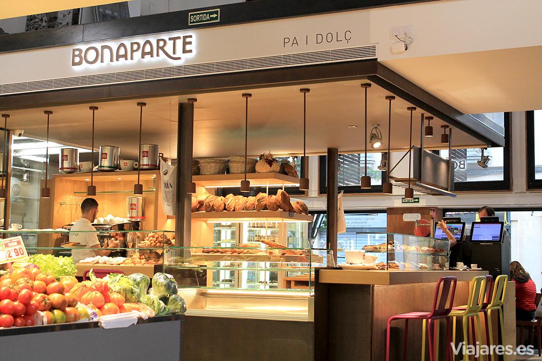 Panadería Bonaparte en el interior del mercado