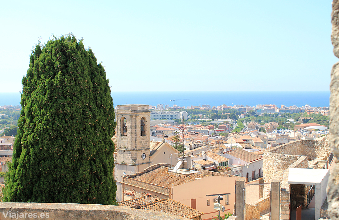 El Mediterráneo en el horizonte desde el Calafell interior