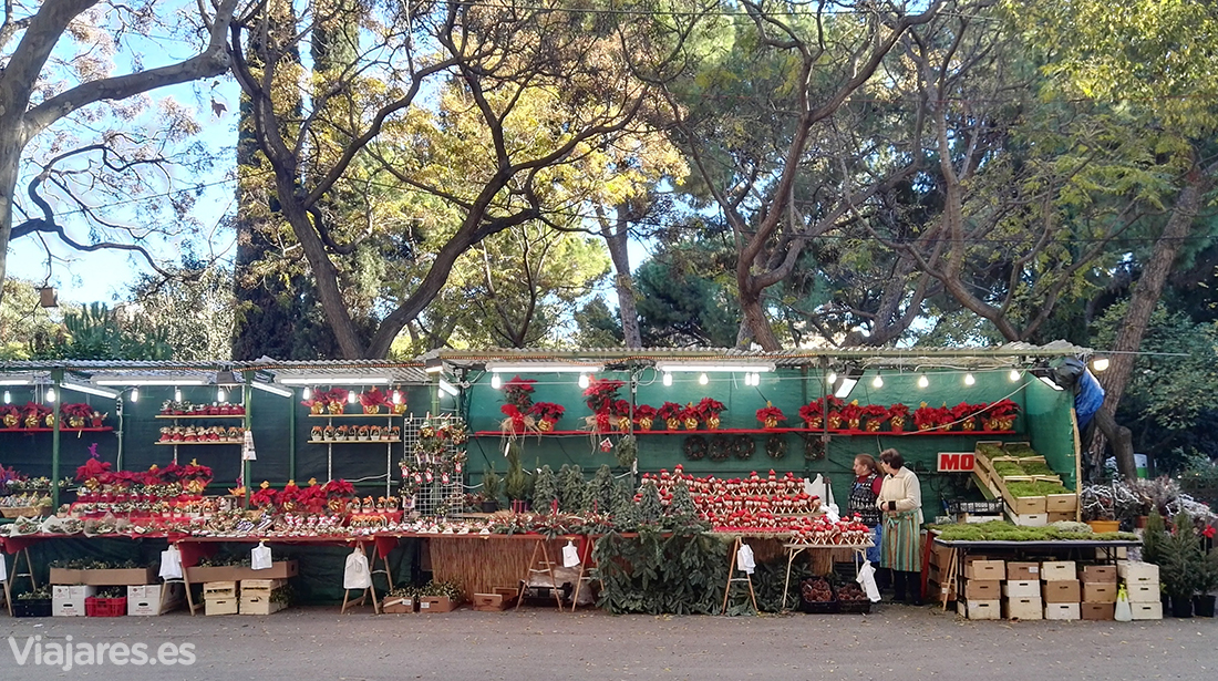 Mercado navideño de la Sagrada Familia de Barcelona