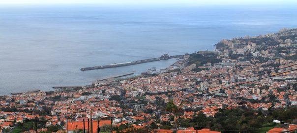 Panorama de Funchal desde Monte, Madeira