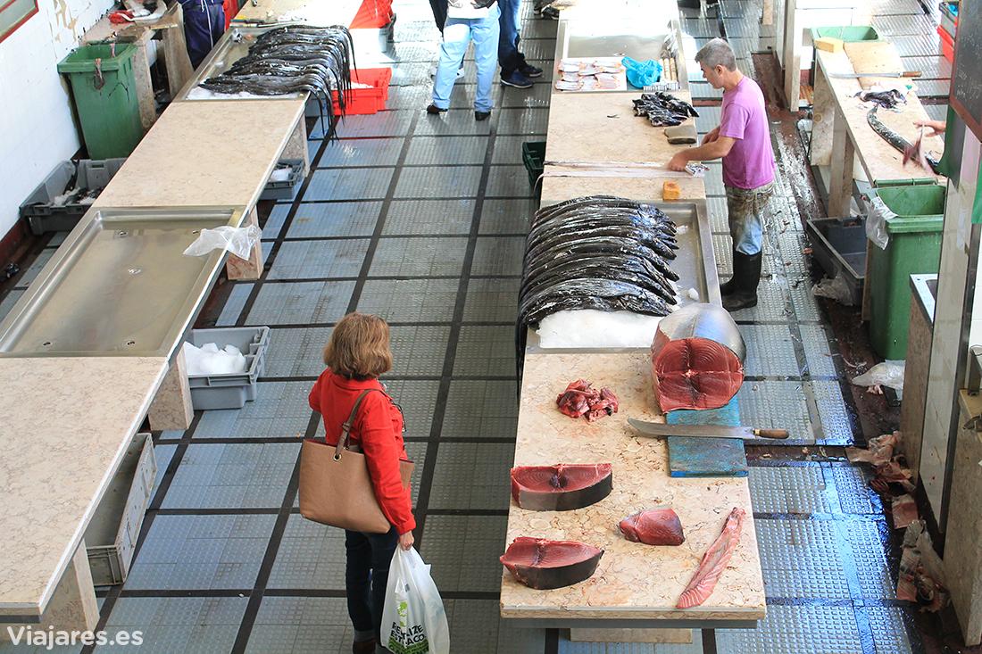 En el Mercado dos Lavradores hay también un buen surtido de productos del mar