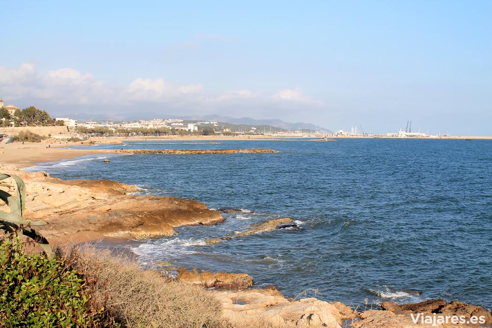 Vistas del litoral de Vilanova i la Geltrú