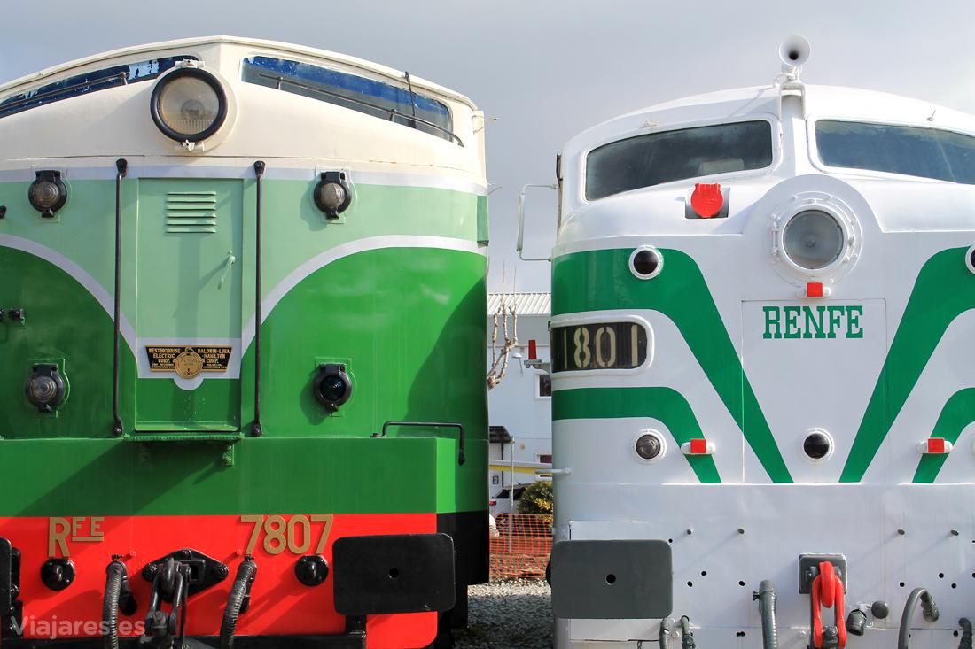 Máquinas más modernas en el Museo Ferrocarril de Catalunya