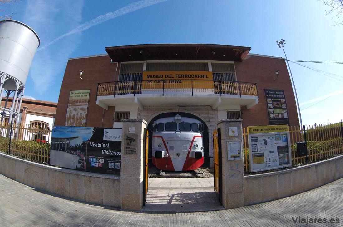 Entrada al Museu del Ferrocarril de Catalunya