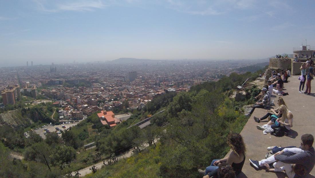 Vistas desde lo alto del Turó de la Rovira