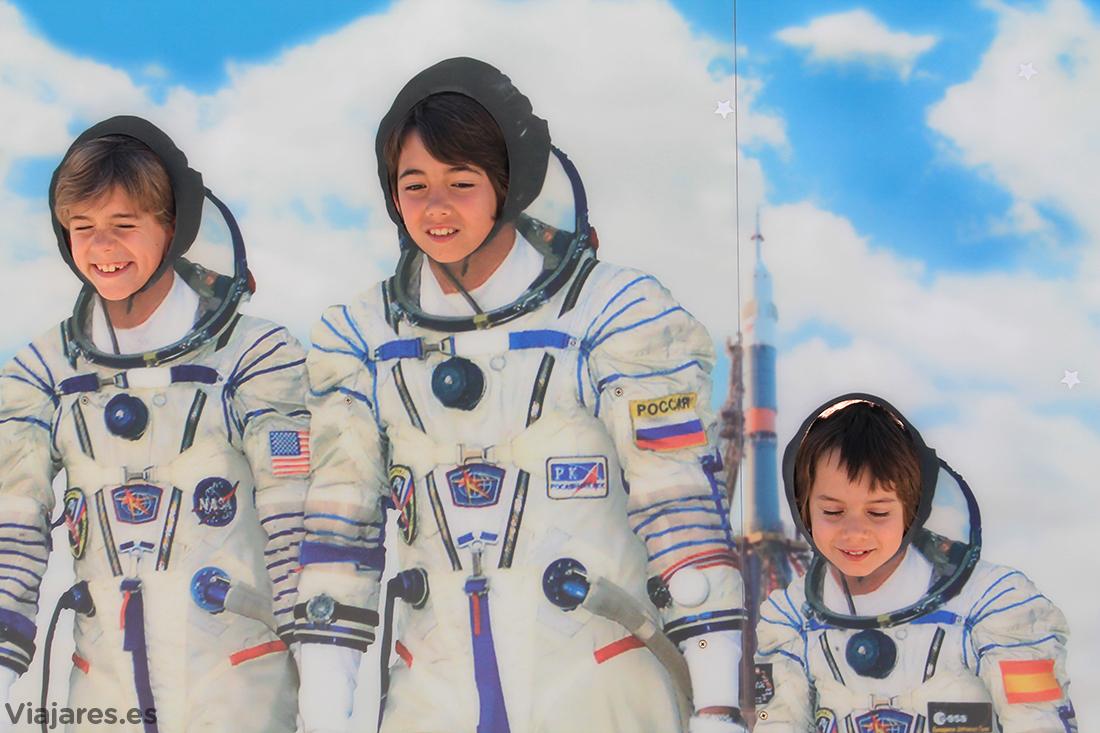 Fantástico equipo de astronautas