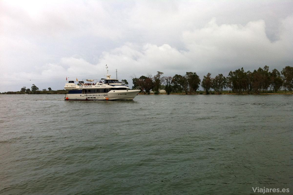 Crucero por la desembocadura del río Ebro