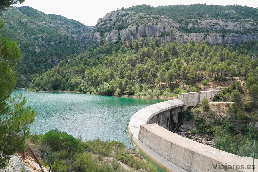 Pantano de Margalef en el Priorat, Tarragona