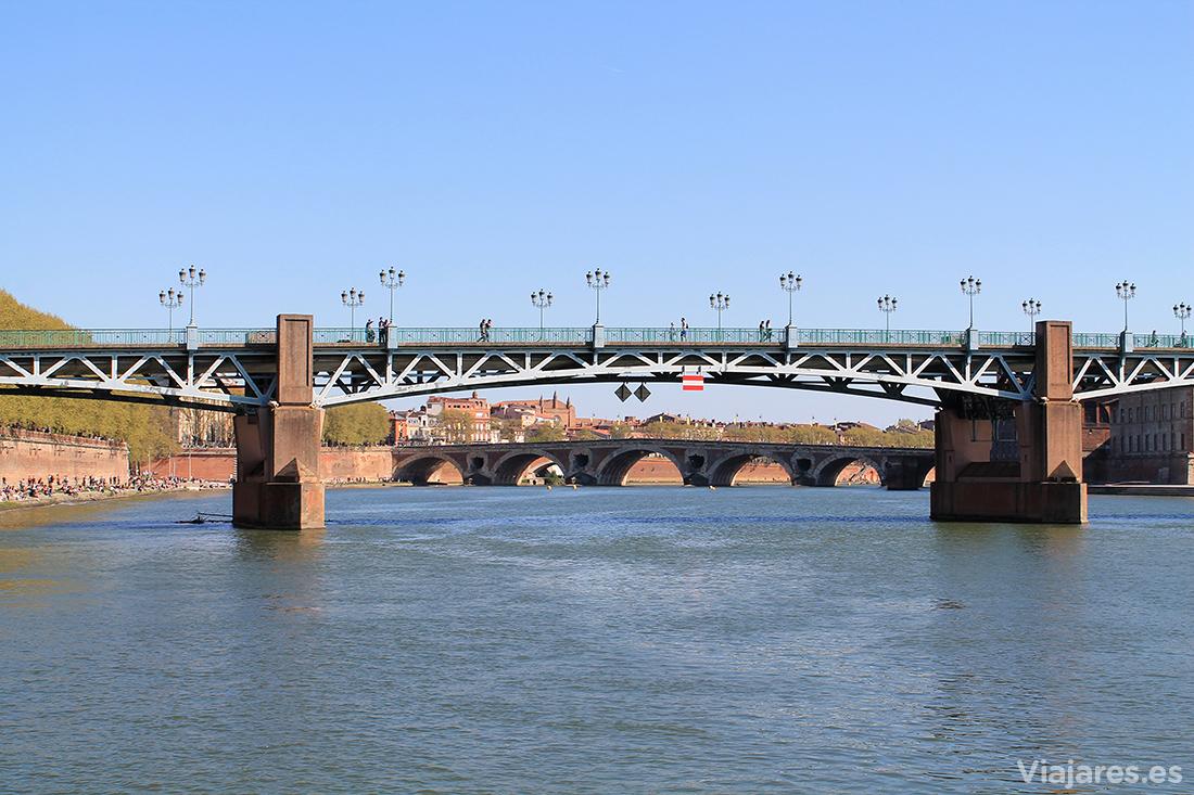 Puentes sobre el río Garona en Toulouse