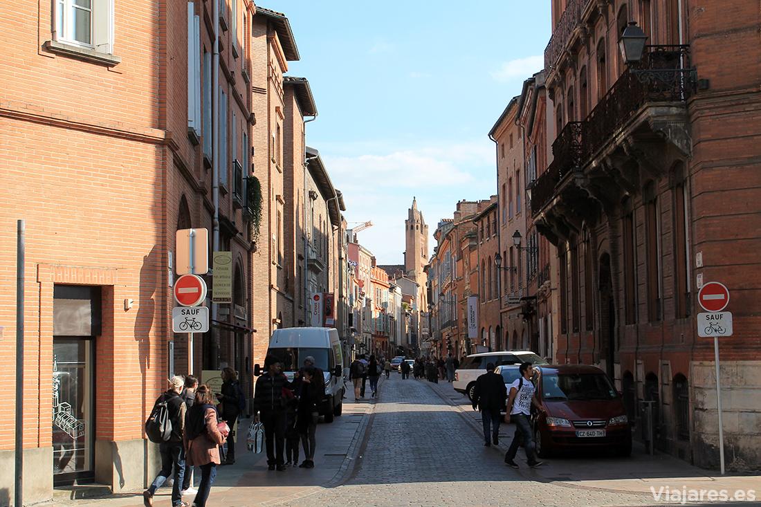 Rue du Taur, que enlaza Saint Sernin con Place du Capitole