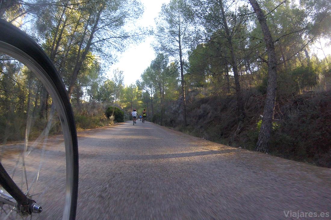 Sobre ruedas en la Vía Verde