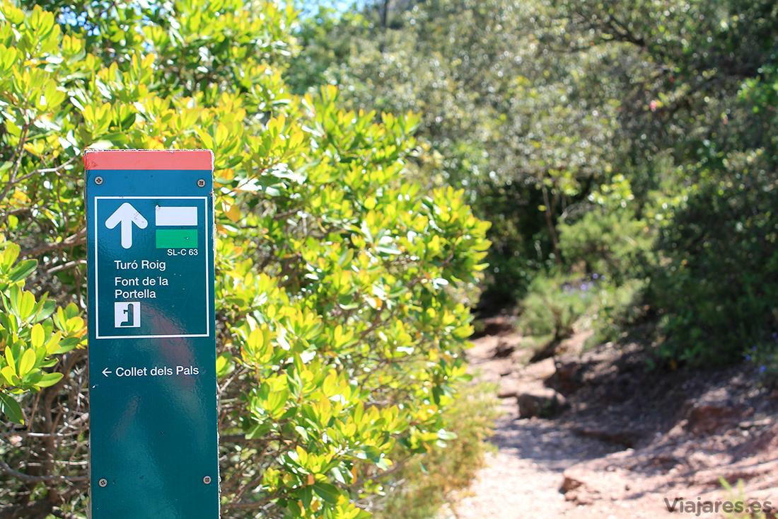 Camino que lleva a la Fuente de la Portella