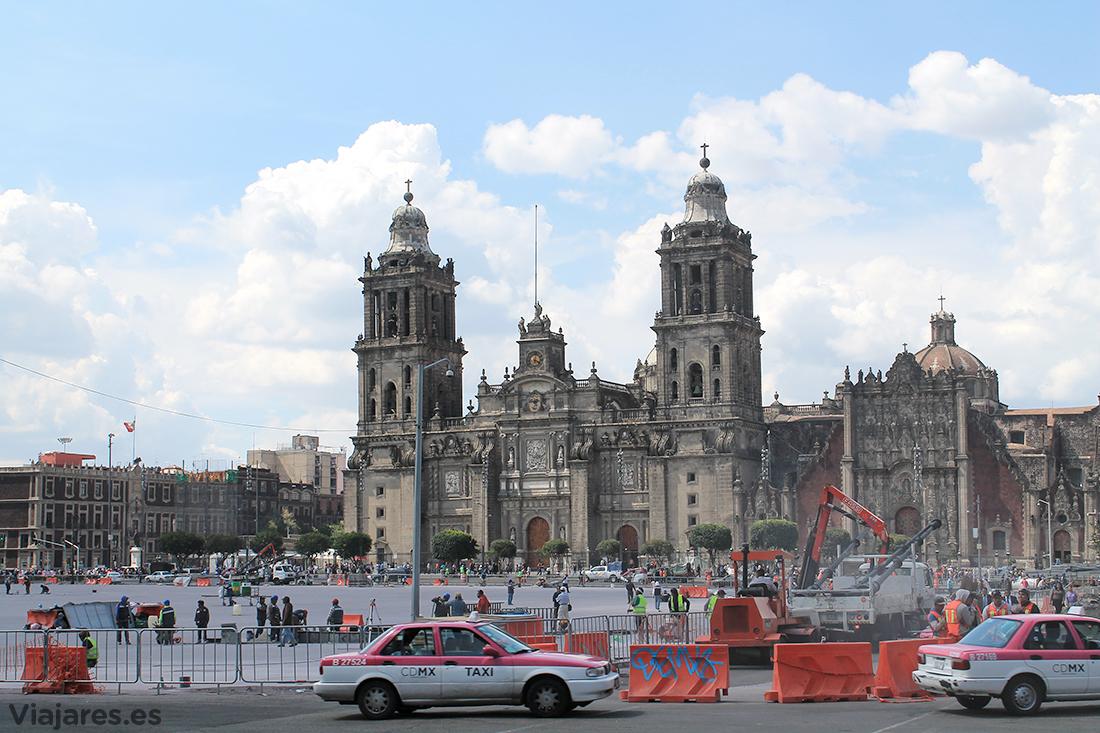 Catedral Metropolitana y El Zócalo en obras