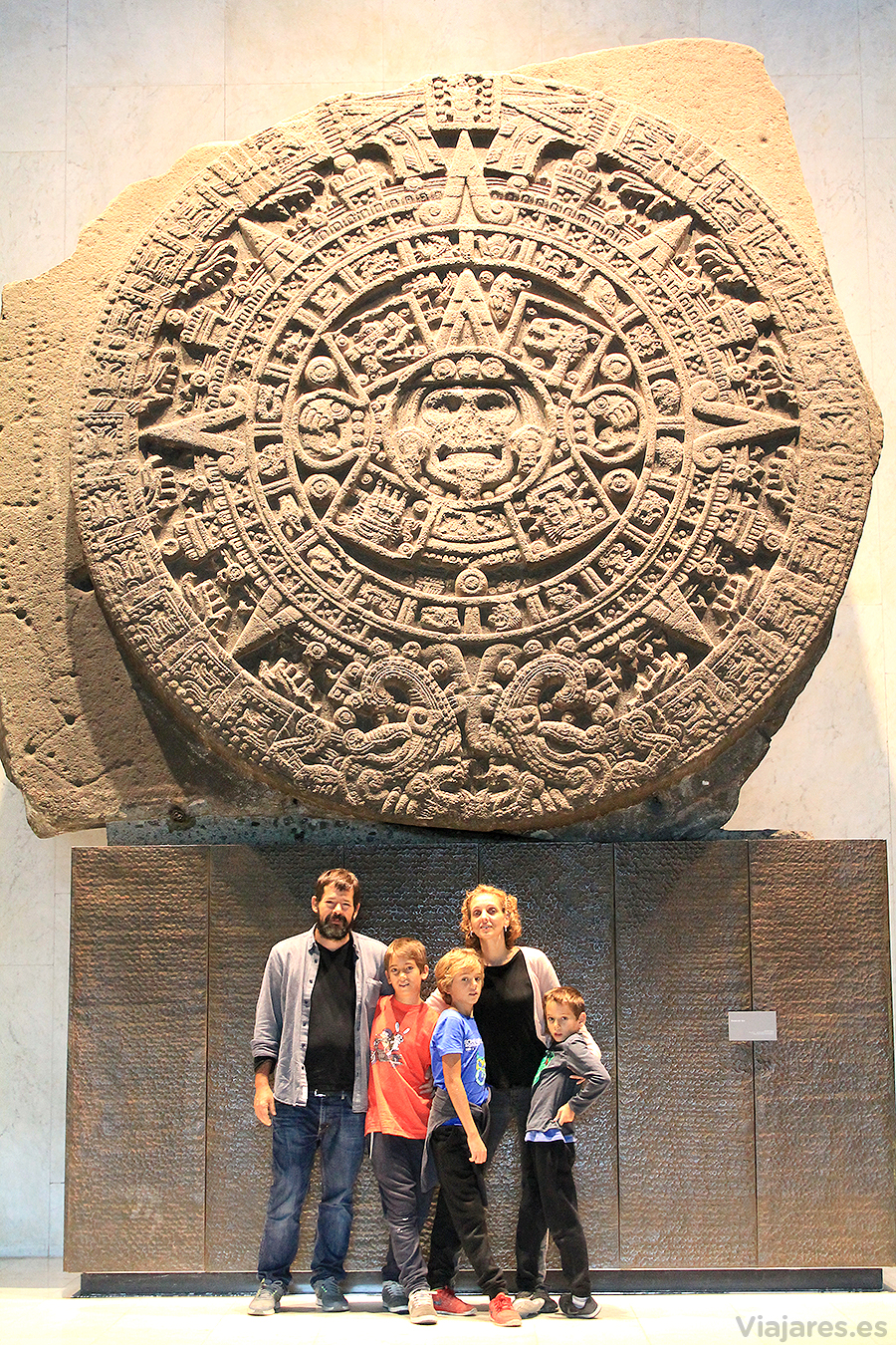Piedra del Sol en el Museo Nacional de Antropología