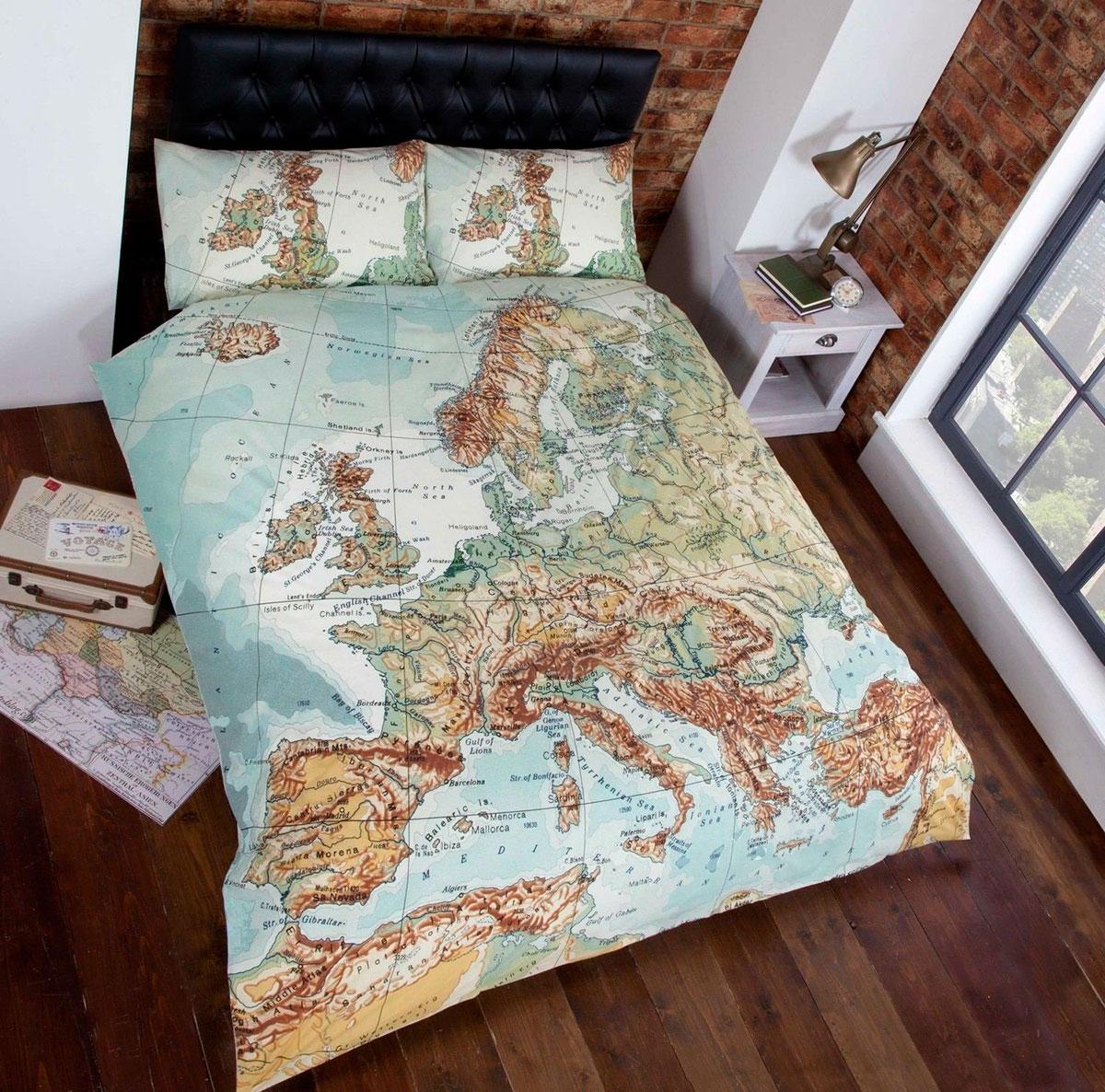 Funda Nórdica con mapa de Europa