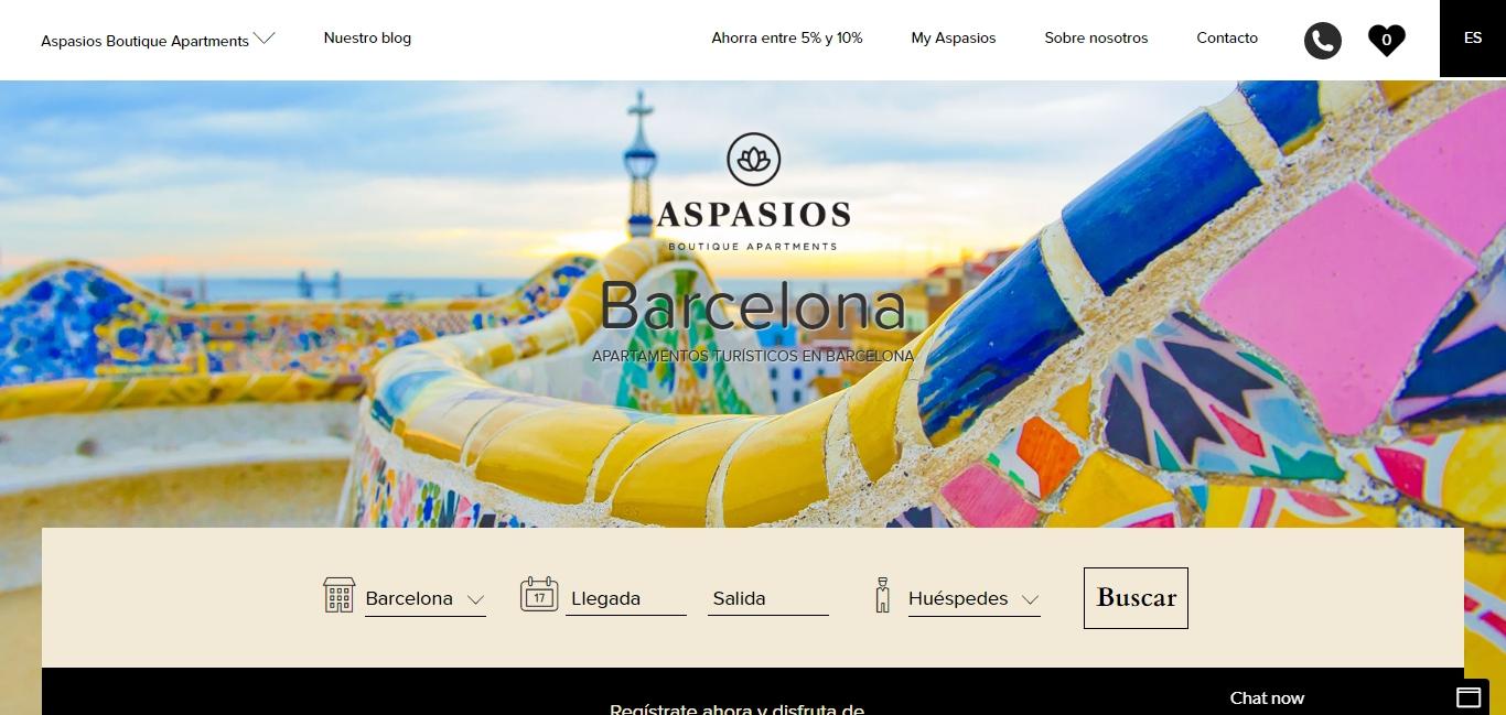 Apartamentos de Aspasios en Barcelona