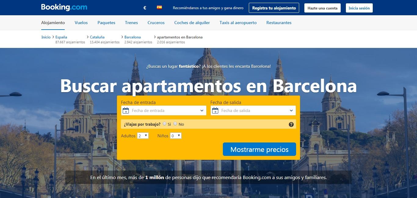 Apartamentos de Booking en Barcelona