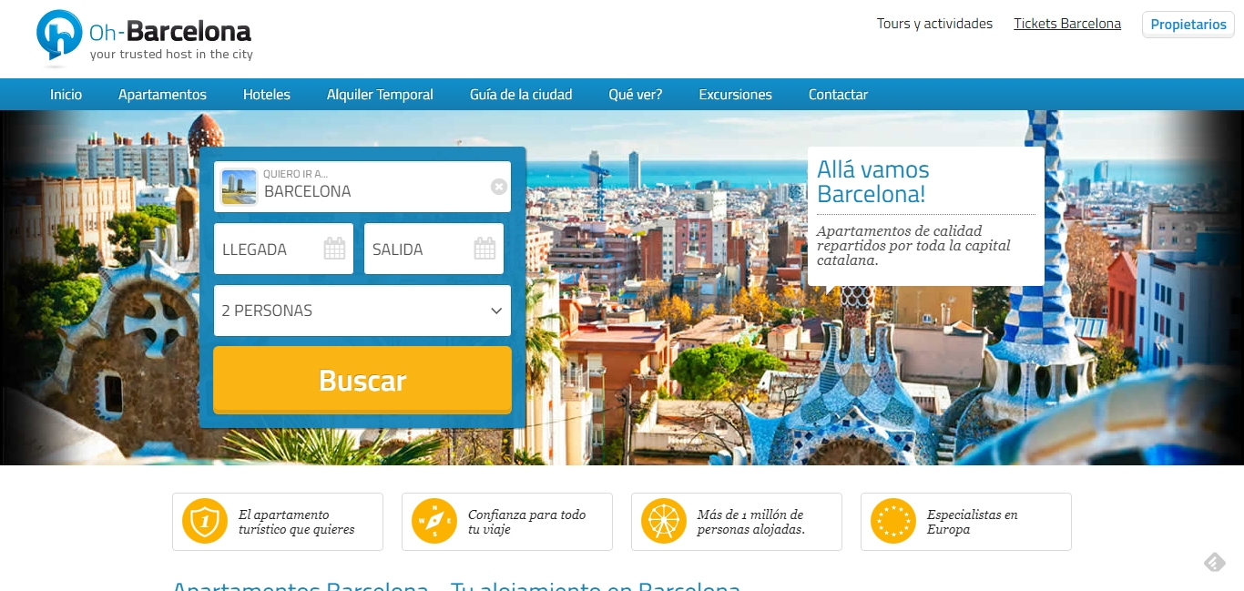 Pagina web de Oh Barcelona