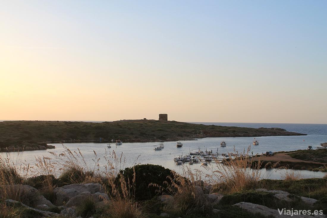 El pequeño Puerto de Sanitja en Cavallería